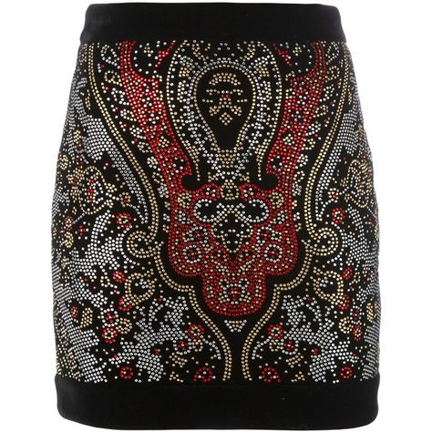 cdfd05ceb0 Balmain embellished mini skirt (26.570 ARS) ❤ liked on Polyvore featuring  skirts