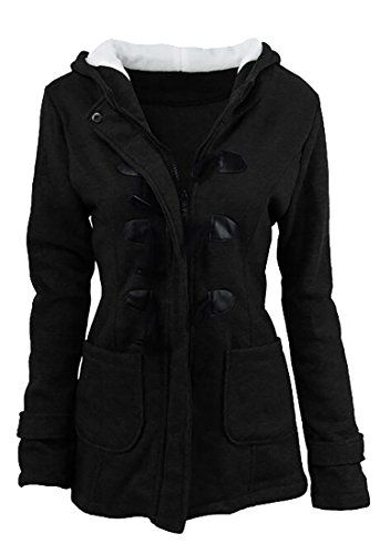 Pandapang Womens Outwear Fleece Winter Jacket Hooded Sweatshirt Parkas Coat