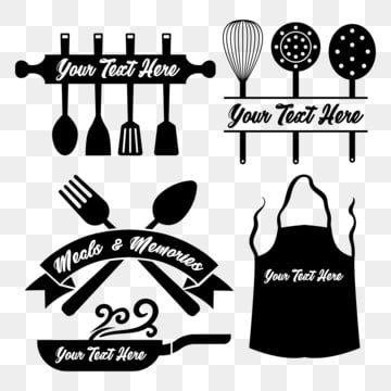 مطبخ أداة مجموعة أداة المطبخ الغذاء لوحة ملعقة شوكة جرافيك عنصر اساسا ملف القطع صورة ظلية Cricut حجاب شعار عشاق Tool Logo Design Cooking Tool Set Kitchen Icon
