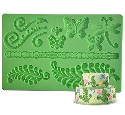 Hope Spring Leaf Silicone Fondant Cake Mould Sugar Craft Decoration Baking Tools