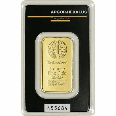 1 Oz Gold Bar Argor Heraeus 999 9 Fine In Assay Swiss Suisse Pure 1oz In 2020 Gold Bar Gold Bars For Sale Gold