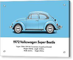 1960 Digital Art - 1968 Volkswagen Sedan - Vw Blue by Ed Jackson ...