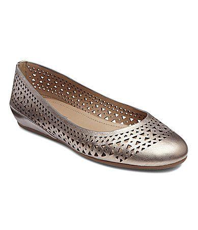 Ecco Owando Perforated Skimmer Flats Dillards Com Bridesmaid Shoes Shoes Flats