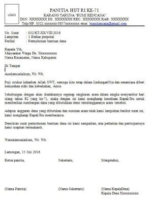 Contoh Surat Pengantar Surat Surat Pengantar Proposal