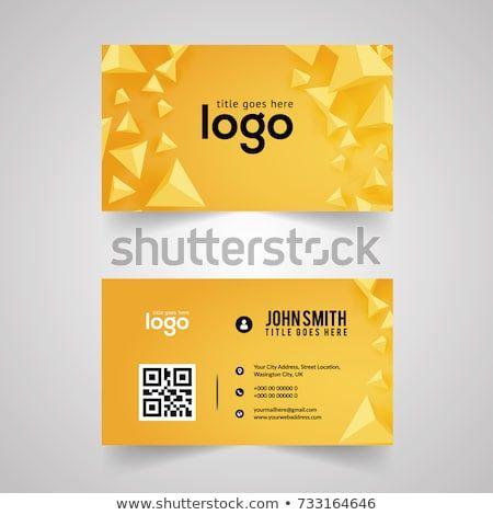 Yellow Modern Creative Business Card And Name Card Horizontal