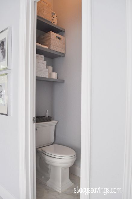 floating shelves bathroom white