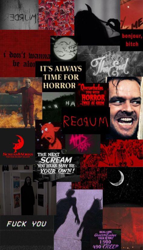 horror aesthetic iphone wallpaper