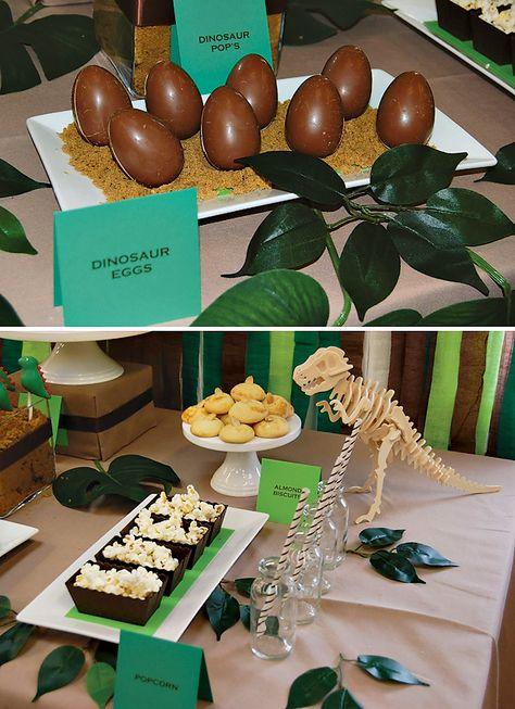 Dino-Eier für den Dinosaurier Geburtstag