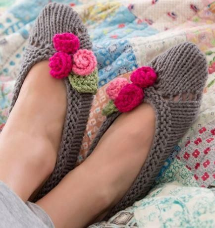 FREE EXSPRESS SHIPPING Women/'s slippers knitted with woolen thread