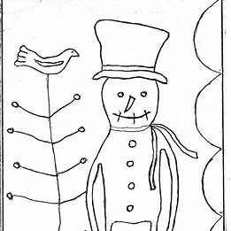 photograph relating to Free Printable Primitive Snowman Patterns titled Primitive Snowman Designs Free of charge Printable Micheles