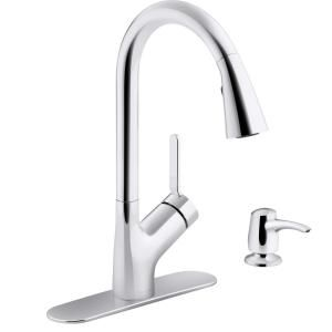 Flow Motion Activated Single Handle Pull Down Sprayer Kitchen Faucet In Brushed Nickel Ub7000bn The Home Depot In 2020 Kitchen Faucet Faucet Touchless Kitchen Faucet