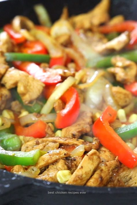 This EASY hen FAJITAS menu is probably the nearly all fuss-free and quickest fajita recipe you'll ever before come across. After all, there are only 5 substances and they're prepared in under 20 mins! #chickendinner #chickenfajitas #easychicken #fajitas #quickdinner
