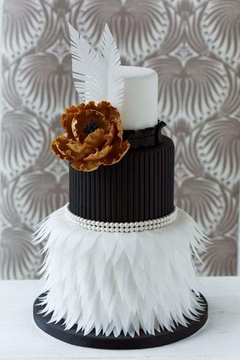 Tendencia Para Bolos De Casamento 2015 O Classico Preto Branco