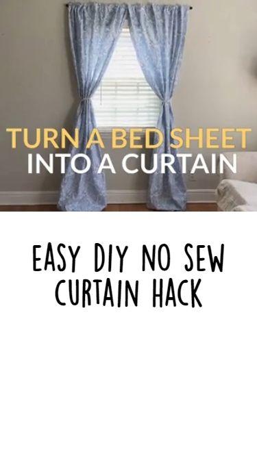 easy diy no sew curtain hack