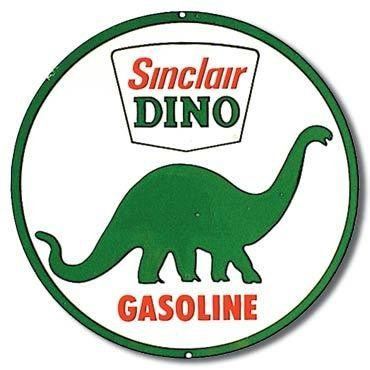 Sinclair Dino Gasoline metal sign    300mm diameter de