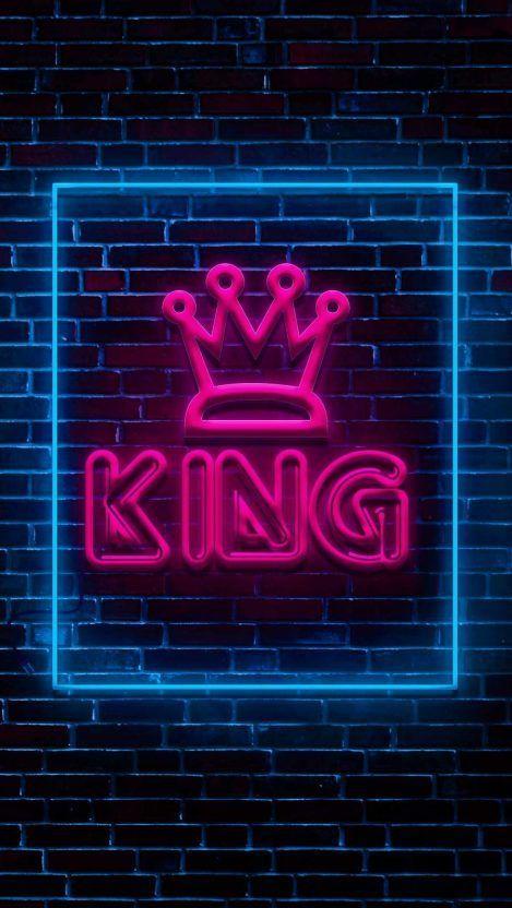 Neon Light Art King Iphone Wallpaper