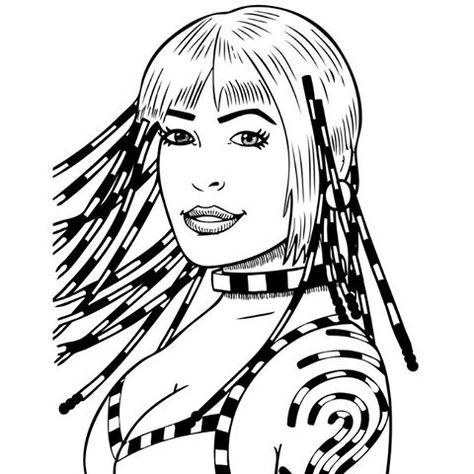 Artwork Dessin Drawing Coloriage Sexy Girl Femme Woman