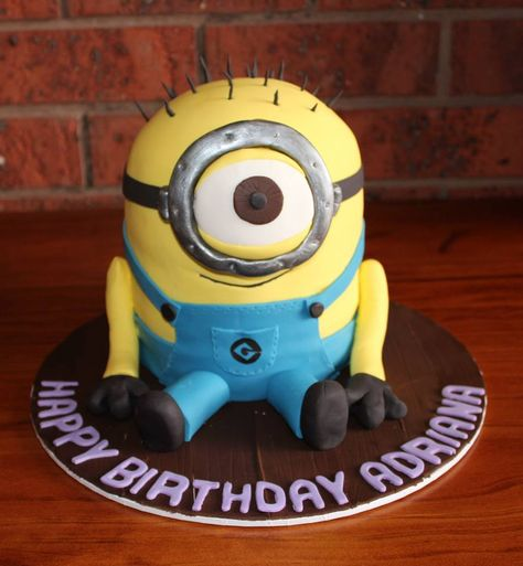 Minion Birthday Cake by Oh So Tasty Epping, Victoria, Australia. You'll find this Cake Appreciation Society Member in our Directory at www.cakeappreciationsociety.com
