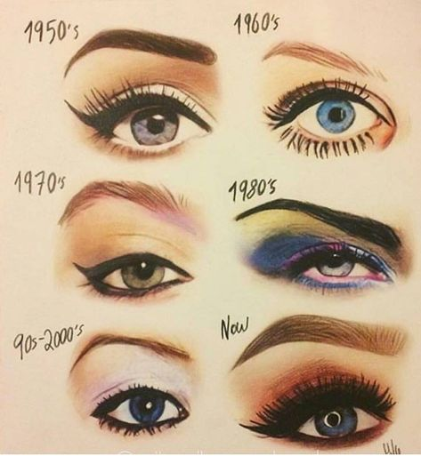 31 Vintage Makeup Trends That Are Back — Vintage Beauty Trends Make Up Love! Makeup Hacks, Makeup Inspo, Makeup Inspiration, Makeup Style, Makeup Ideas, 1950s Style Makeup, Makeup Goals, Design Inspiration, Golden Eye Makeup