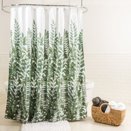 Home In 2020 Green Shower Curtains Fabric Shower Curtains