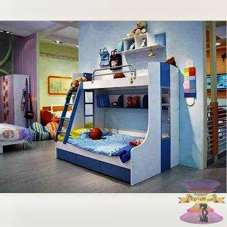 موديلات غرف الأطفال 2021 بارقى تصميمات غرف نوم الاطفال سرير دورين للأطفال Bed Bunk Beds Home Decor