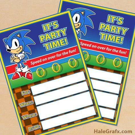 Free Printable Sonic The Hedgehog Party Invitation Sonic