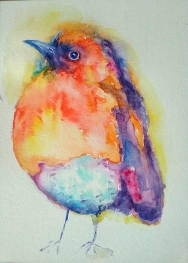 Nature Bird Painting Bird Art Watercolor Bird Painting