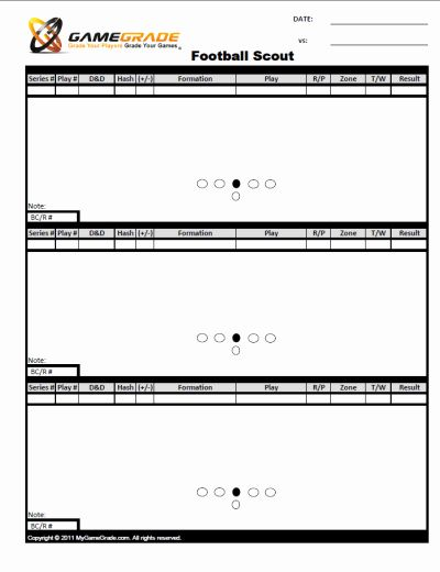 Printable Blank Football Formation Sheets Beautiful Football Scout Sheets Football Formations Emergency Response Plan Project Management Templates