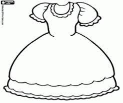 Resultado De Imagem Para Desenho Vestido Para Colorir Desenho