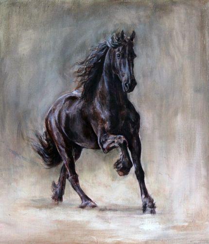 Spiksplinternieuw Schilderij laten maken | Paard schilderij, Paard tekeningen, Paard DF-35