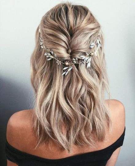 52 Trendy Hair Prom Hairstyles Short Wedding Hairstyles For Long Hair Long Hair Styles Hair Vine Wedding