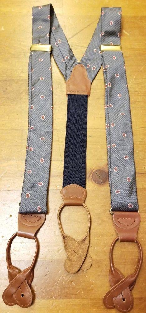 Men/'s Mid Grey Y3.5cm Extra Large Braces Mens Suspenders