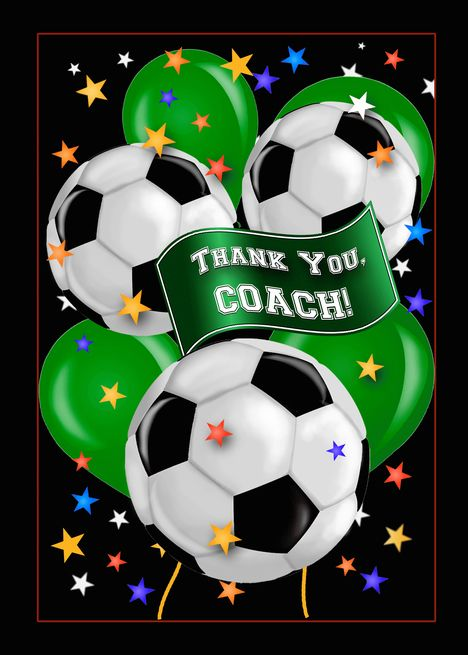 Football Pitch Ball Soccer Personalized Birthday Party Thank You Cards