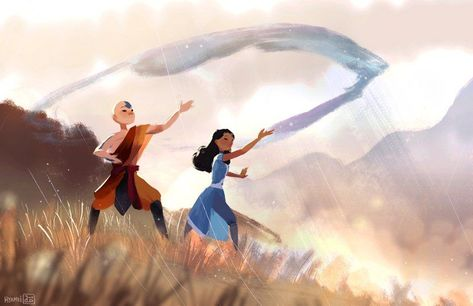 """Keep """"Avatar: The Last Airbender"""" and """"The Legend of Korra"""" alive forever with some quality fan art! Avatar Airbender, Avatar Aang, Team Avatar, Fan Art Avatar, Firefly Serenity, Fanart, The Legend Of Korra, Avatar World, Avatar Series"""