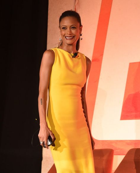 Thandie Newton participates in a press conference in Los Angeles on May 12, 2018 for 'Solo: A Star Wars Story.'