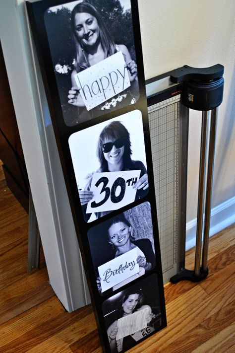 30th Birthday Filmstrip Artwork Photo S With Chalked Blurbs For