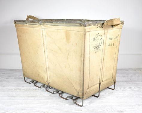 R E S E R V E D Vintage Industrial Laundry Cart Laundry
