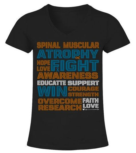 Spinal Muscular Atrophy Awareness Infant Creeper Sma Month Support V Neck T Shirt Woman Shirts Tshirts
