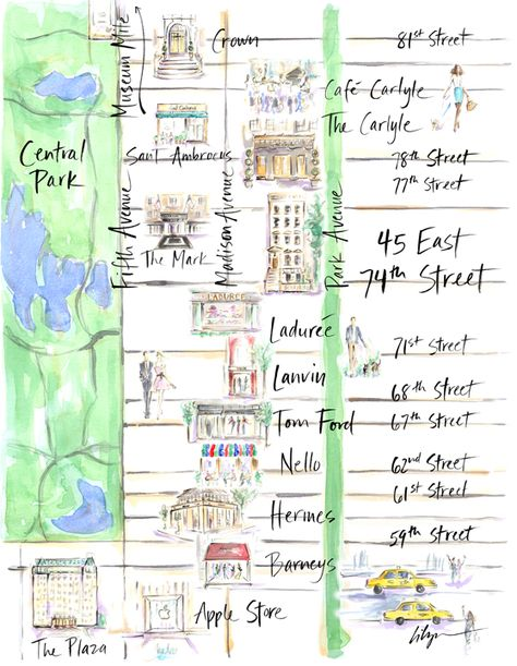 Upper East Side map for Mr. Gatsby