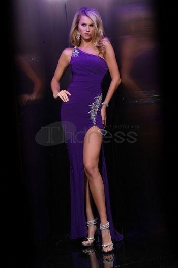 Abiti da Ballo 2013-Spazzare chiffon una spalla abiti da ballo
