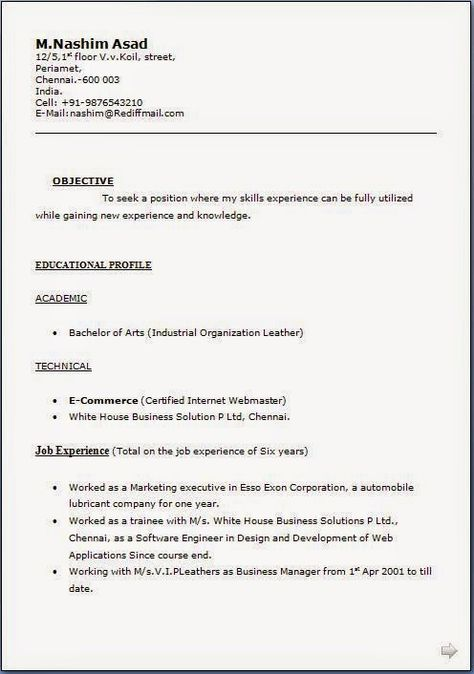 free sample resume Excellent CV   Resume   Curriculum Vitae with - training proposal letter