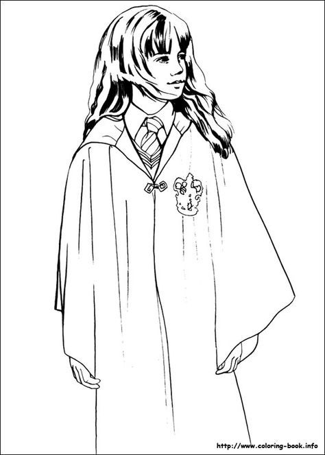 Hermione Printable Harry Potter Coloring Pages