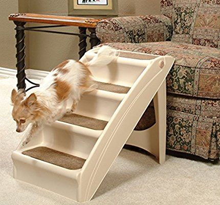 Amazon Com Petsafe Solvit Pupstep Plus Pet Stairs Foldable Steps For Dogs And Cats Best For Small To Medium Pets Dog Bed Furniture Pet Stairs Dog Stairs