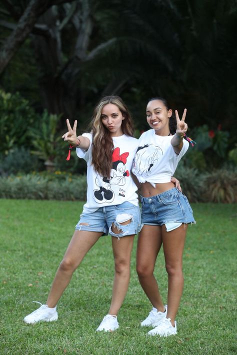 Jade Thirlwall and Leigh-Anne Pinnock of Little Mix pose for a photo ahead of 'Kilimanjaro: The Return' for Red Nose Day on February 2019 in Arusha, Tanzania, all to raise funds for Comic Relief. Get premium, high resolution news photos at Getty Images