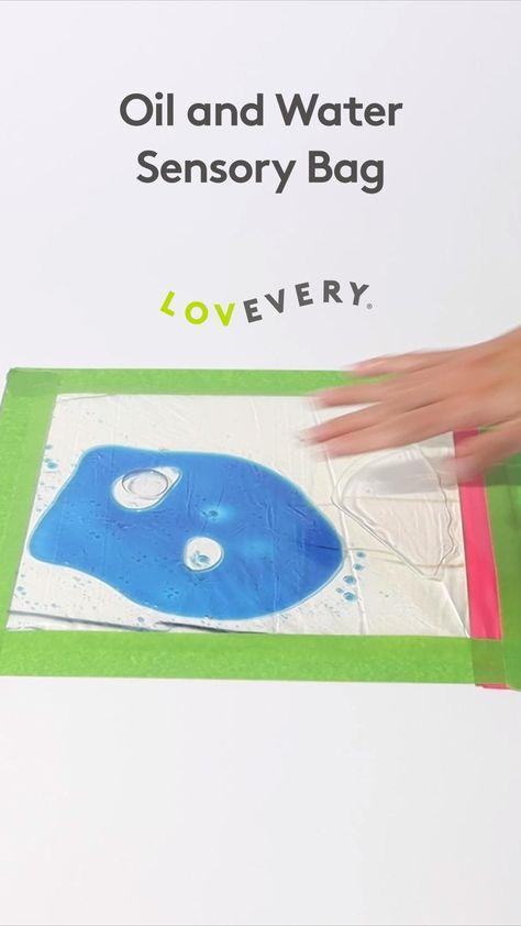 DIY oil & water sensory bag | Lovevery