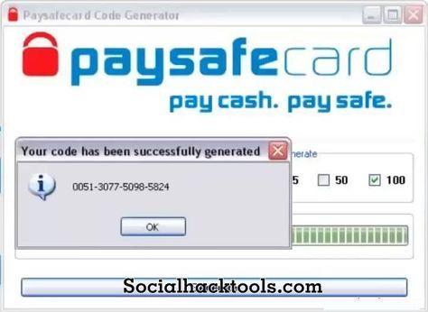 Paysafecard Generator 2019 Unlimited Codes List Social Hack Tools In 2020 Coding Tool Hacks Paypal Hacks