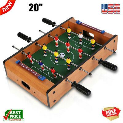 Advertisement Ebay 20 Portable Tabletop Foosball Table Table Football Soccer Game Set 4 Rows Gift In 2020 Table Football Foosball Soccer Table