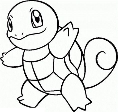squirtle coloring pages # 3
