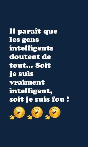 Je M'en Fous De Tout : Intelligent, Citation,, Texte,