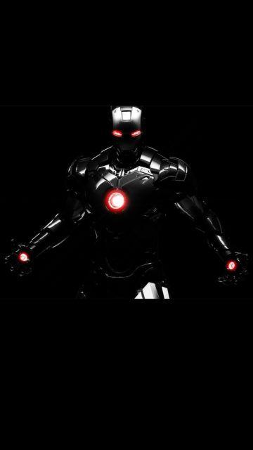 Iphone Iron Man Line Black Wallpaper Avengers Wallpaper Iron Man Wallpaper Black Wallpaper
